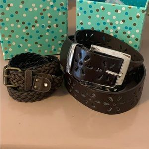 Two cute belts $8 for both!